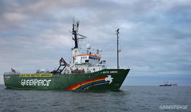 1274 Greenpeace Action Against Gazproms Arctic Drilling