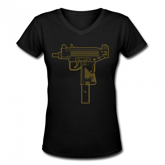 Dustrial Streetwear Uzi black gold Womens Tank CtrlAltDesign 001 650x650 Dustrial Streetwear, Womens 2014 Designs, Punk + Pastel