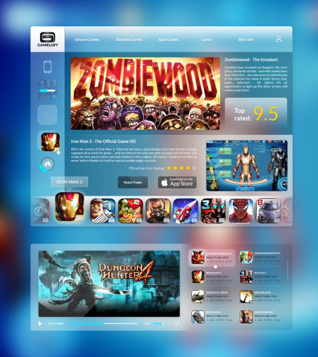 Gameloft store full pixels 650x731 Gameloft App Store [ by Novagraphix // Steve Fraschini ]