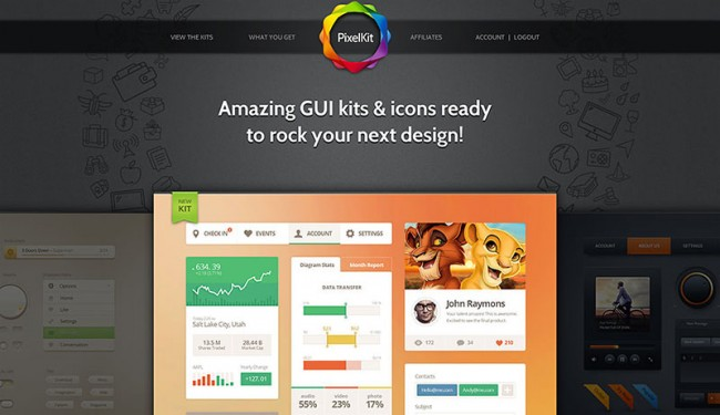 PixelKit Premium UI Kits and Design Resources 650x375 You Can Win 1 of 3 Membership Accounts from PixelKit