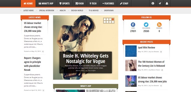 WordPress Magazine Themes 20 20 Hottest WordPress Magazine Themes For 2013