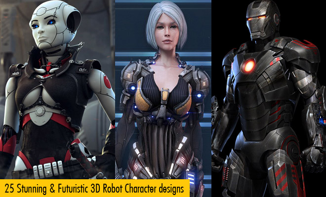 g700 25 Futuristic 3D Robot Character designs for your inspiration