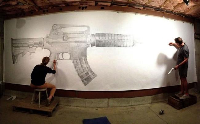 greg 1 650x405 Art against gun violence by Greg Bokor
