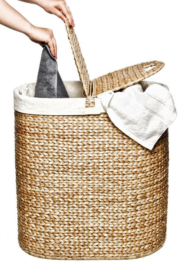 hand woven hyacinth double hamper 004 650x921 Hand Woven Hyacinth Double Hamper