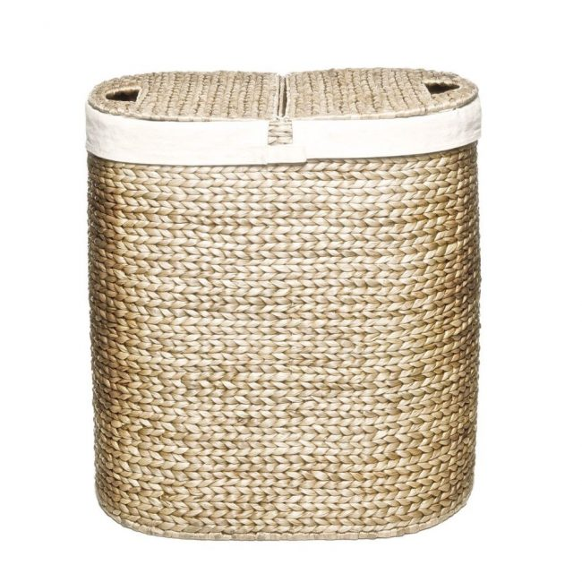 hand woven hyacinth double hamper 011 650x650 Hand Woven Hyacinth Double Hamper