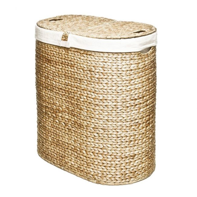 hand woven hyacinth double hamper 02 650x650 Hand Woven Hyacinth Double Hamper