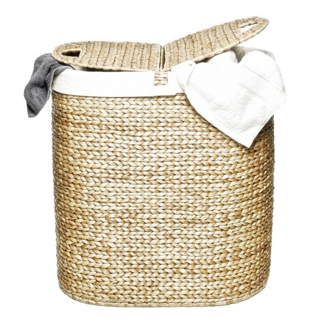 hand woven hyacinth double hamper 051 650x650 Hand Woven Hyacinth Double Hamper