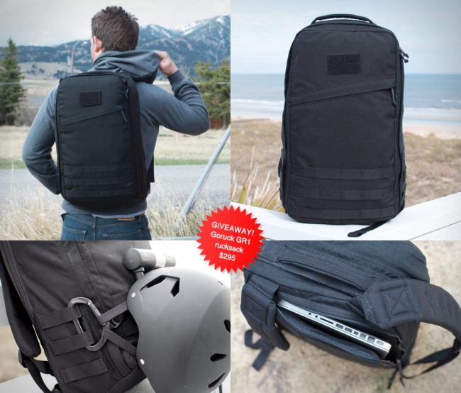 huckberry giveaway large 650x554 Giveaway | Goruck GR1 Rucksack