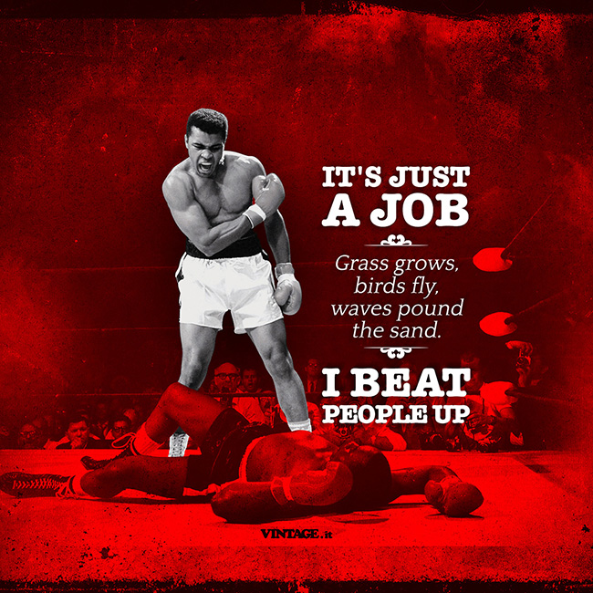 muhammad ali its just a job wallpaper Muhammad Ali its just a job wallpaper