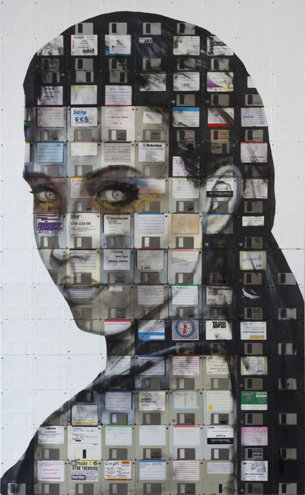 nick 1 600x97311 Floppy Disk Portraits by Nick Gentry