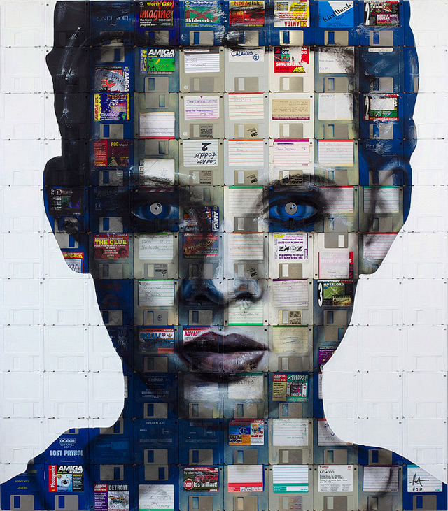 nick 311 Floppy Disk Portraits by Nick Gentry