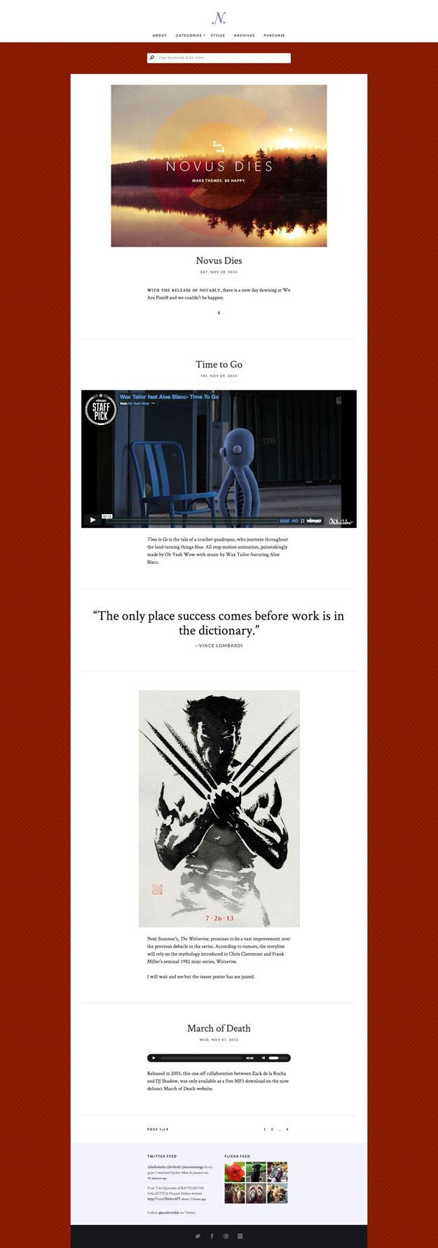 notably theme 30+ Tumblr Style WordPress Themes