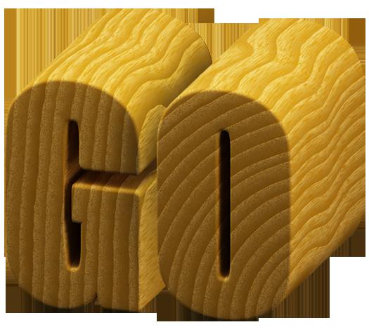 woodcut font letter GO Woodcut font