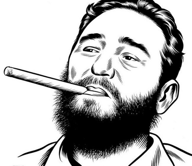 04FidelCastroWB resize 650x563 Illustrator Charles Burns