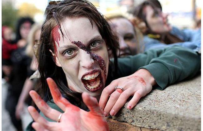 167 Zombies Walk the Streets of Calgary