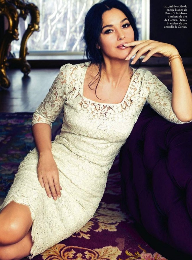 7fxMGkNTMUE 1 650x881 Monica Bellucci for Elle Spain May, 2013