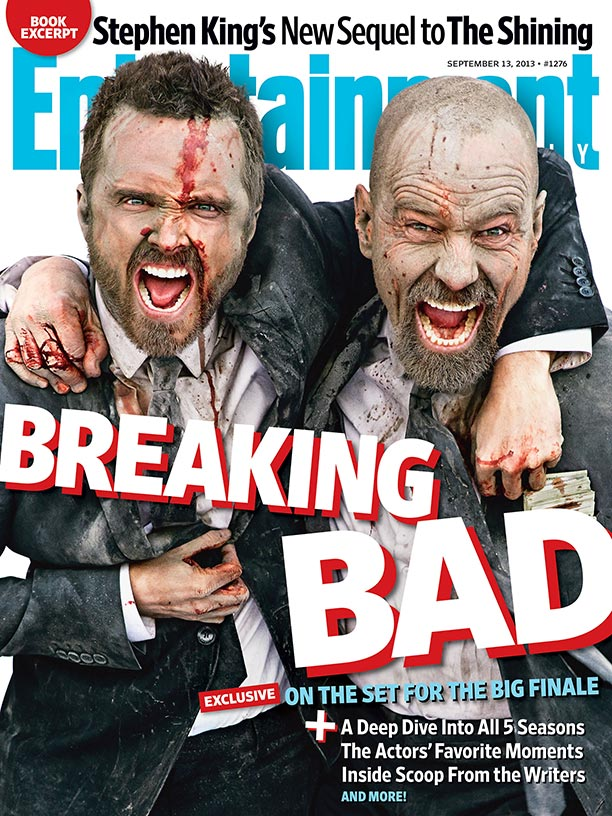 Aaron Paul Bryan Cranston Breaking Bad Entertainment Weekly Bryan Cranston and Aaron Paul for Entertainment magazine