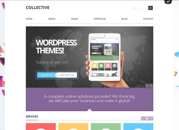 Collective Theme 40 Responsive WordPress Themes for Business Site