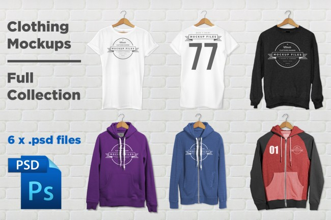 FullCollection 650x432 Clothing Mockups   Full Collection