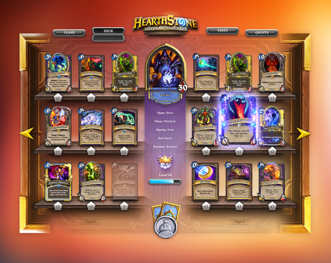Hearthstone deck app2 650x517 Hearthstone   Deck Builder [App] by Steve Fraschini