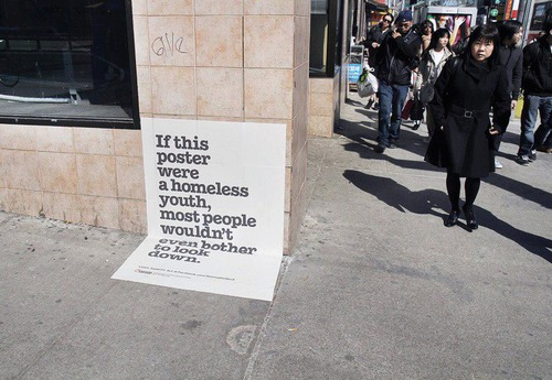 Interesting Awareness Campaign for the Homeless Interesting Awareness Campaign for the Homeless