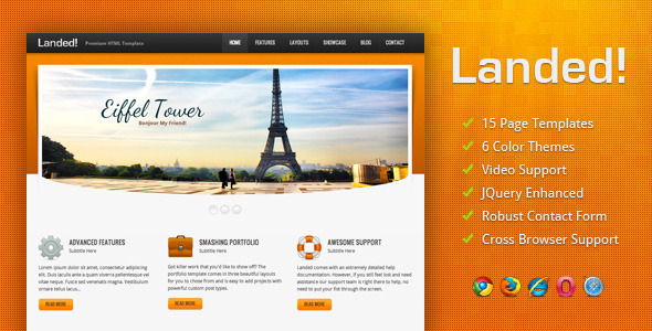 Landed HTML Template Beautiful Landing Page Templates