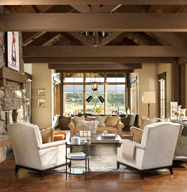 Montana Mountain Home Radiating With Warmth