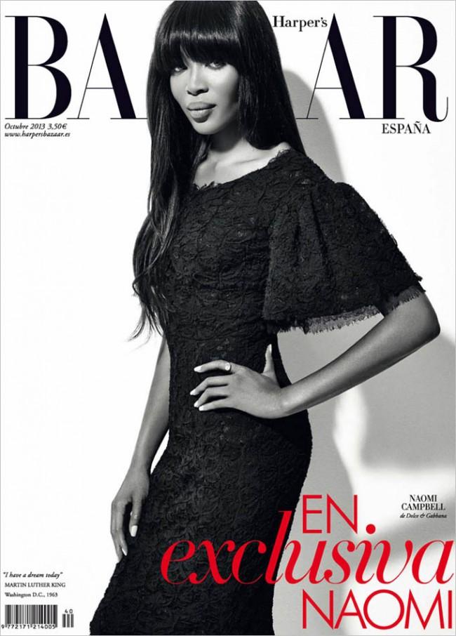 Naomi Campbell Harpers Bazaar Spain Xevi Muntane 01 650x906 Naomi Campbell for Harper's Bazaar Spain