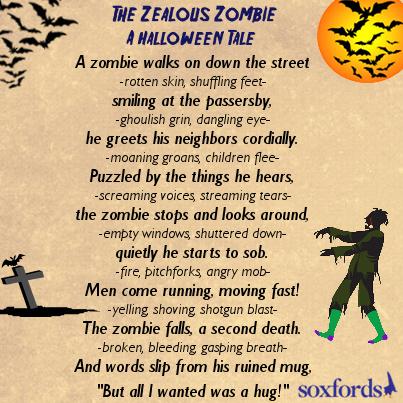 Soxfords Zealous Zombie Poem The Zealous Zombie a Halloween Tale