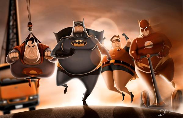 "ae6d5b7e1b8954ad22389a6931c4ab4f 1 ""Fat Superheroes"" by Carlos Datolli"