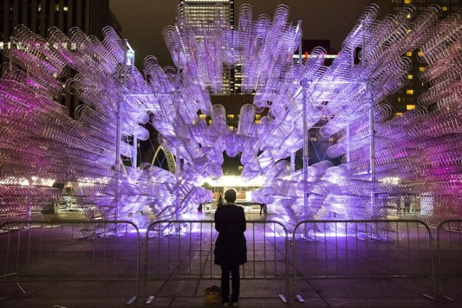 aiweiweibicycles01 650x433 Ai Weiweis Forever Bicycles Installation Stuns Toronto