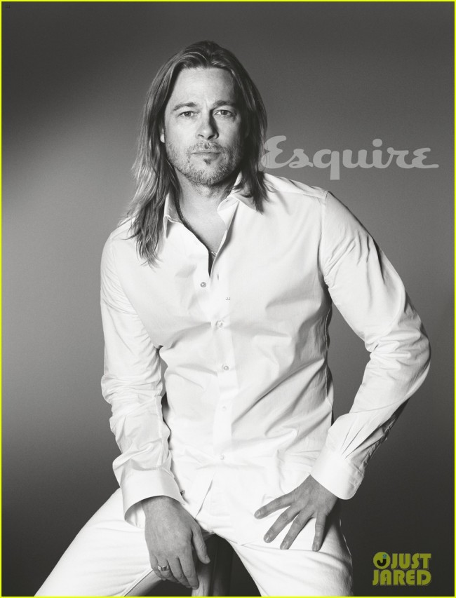 brad pitt to esquire i havent known life to be any happier 01 650x853 Stylish and brutal Brad Pitt for Esquire