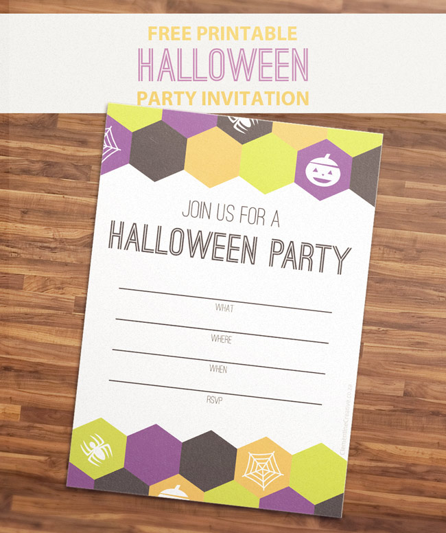 free printable halloween party invitation Free Printable Halloween Party Invitation