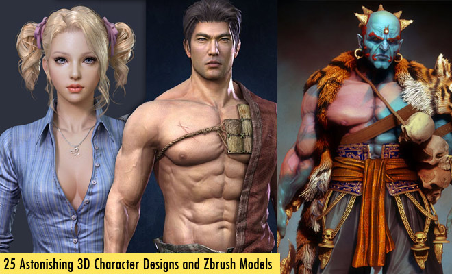g723 25 Incredible 3D Character Designs and Zbrush Models