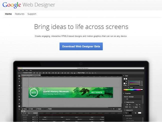 google webdesigner 650x487 Google Webdesigner