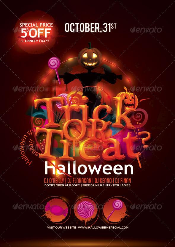 halloween flyer03 40 Uncanny Halloween Flyer Templates