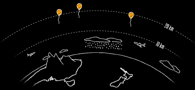 illustration stratosphere copy Balloon powered internet for everyone   Google project loon