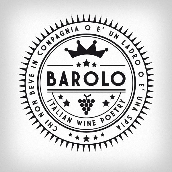 italian wine poetry BAROLO Barolo t shirt. Italian Wine Poetry collection