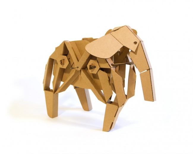 kinetic creatures cardboard kinetic animal kit 1 650x519 Kinetic Creatures