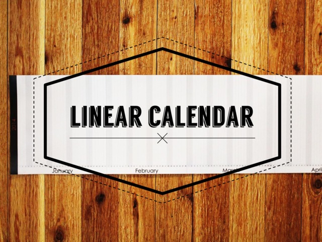 photo main small The first calendar to depict an entire year on a single, uninterrupted timeline | The Linear Calendar, now on Kickstarter