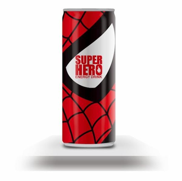 redbull redesign hero 11 SuperHero Energy Drink via @ongezondnl