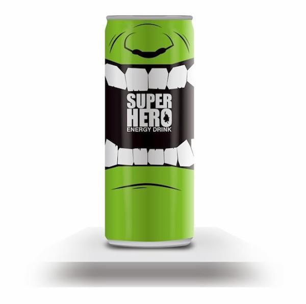 redbull redesign hero 7 SuperHero Energy Drink via @ongezondnl