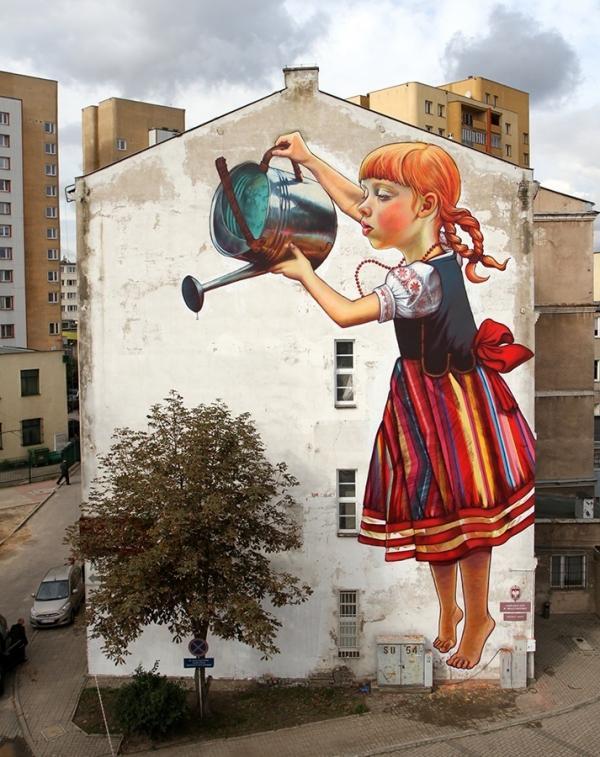 the legend of giants by nataliarak600 757 Street Art by Natalia Rak
