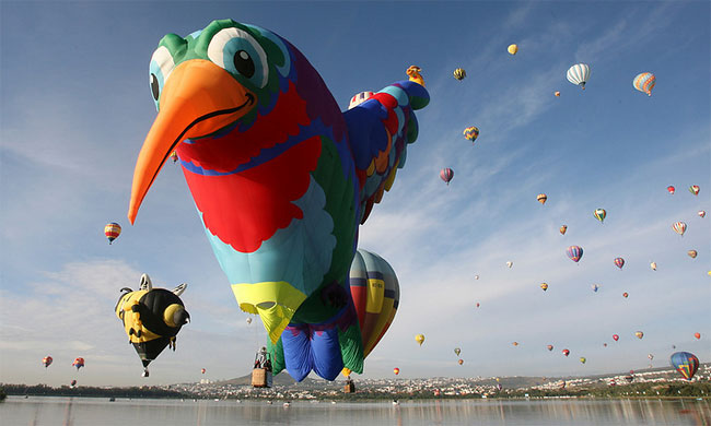 1195 International Balloon Festival in Mexico