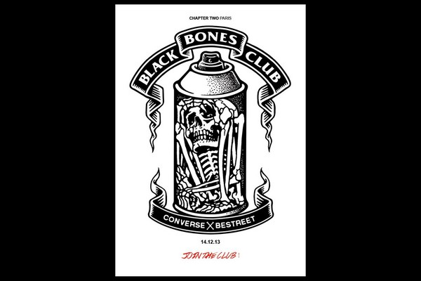1236 Contest: Converse x Be Street Black Bones Club Contest