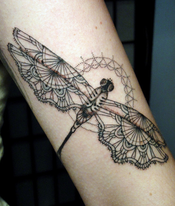29 dragonfly tattoo 10 Dragonfly Tattoos for Women