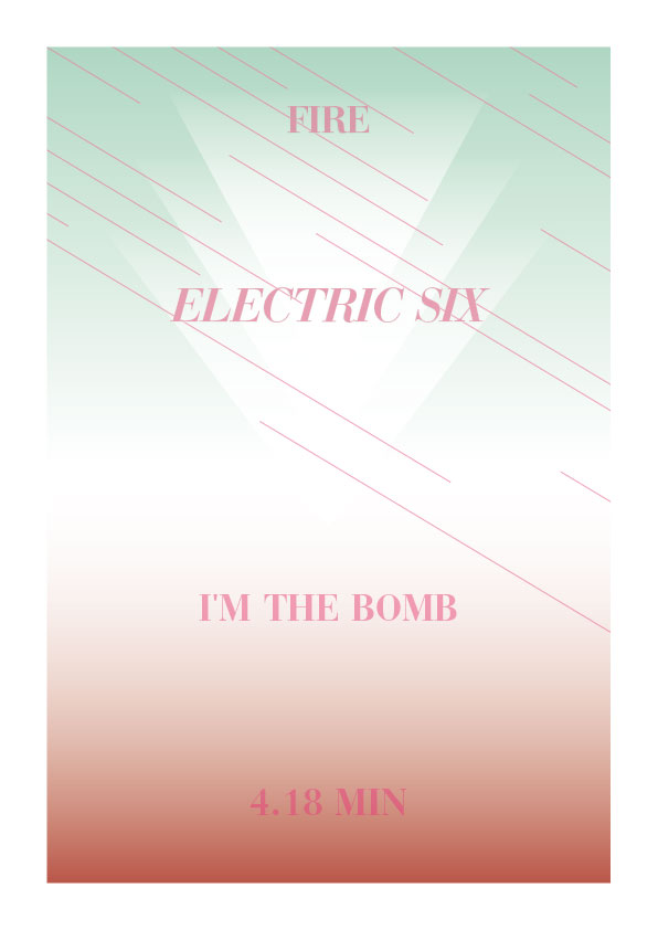 44ElectricSix2 One day   one poster