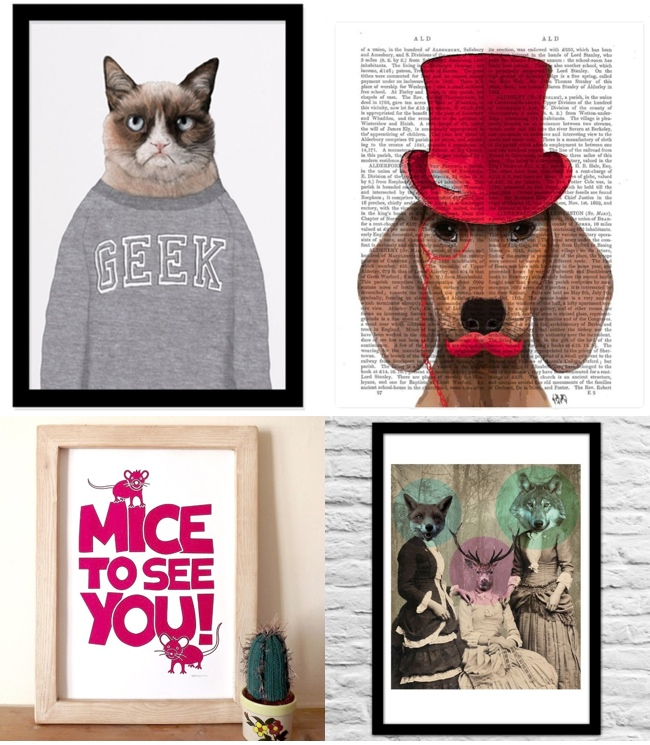 Animal Prints Cool & Humorous Art Prints for Animal Lovers