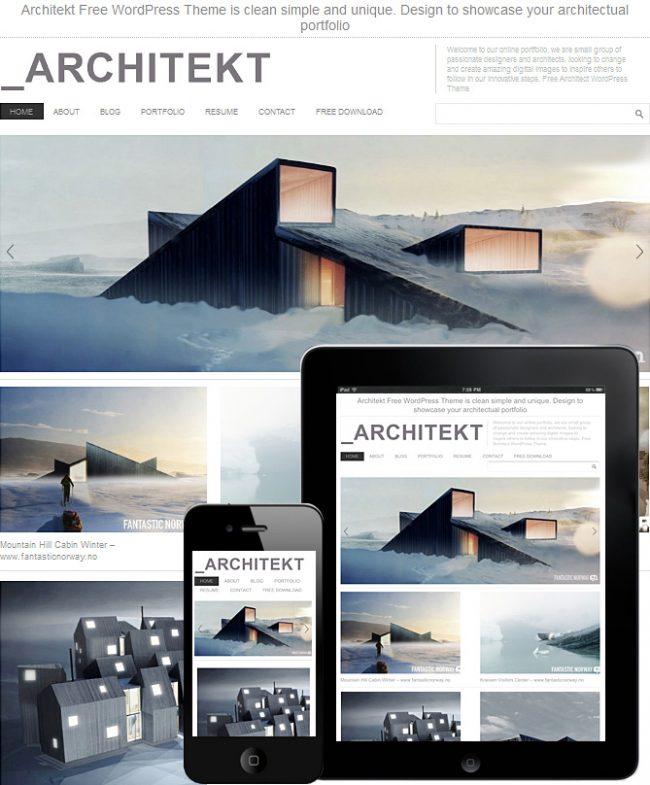 Archeitekt WordPreess Theme WordPress 650x785 19 Free Premium Quality WordPress Themes