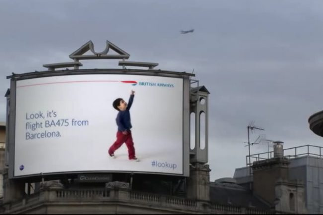 British Airways Launches An Innovative Advertisement On Digital Billboard 650x433 British Airways Launches An Innovative Advertisement On Digital Billboard